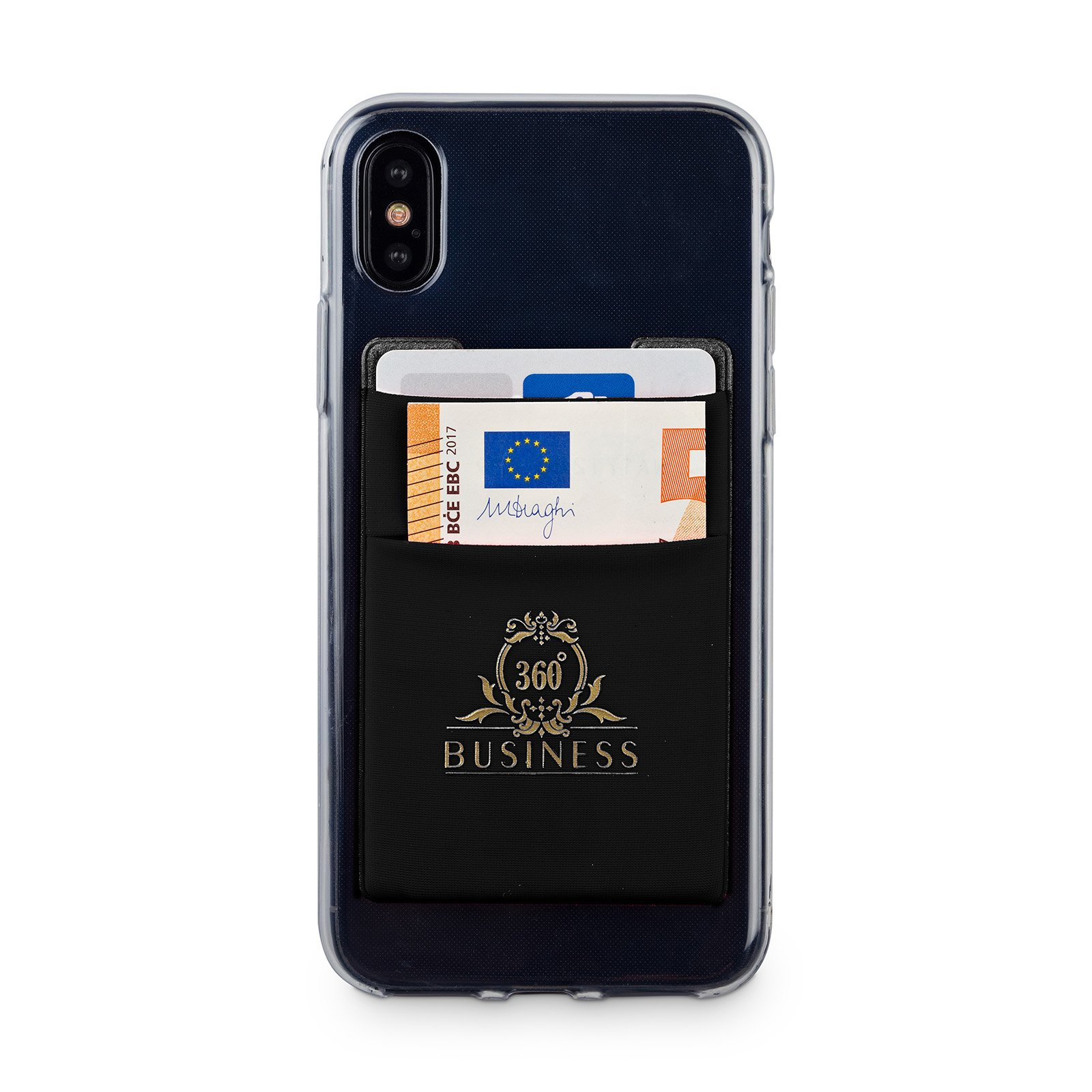 Handy Kartenhalter I Smartphone Kreditkartenhalter Geldbörse I Handy Zubehör I klebende Handyhülle I Phone Wallet I Kartenhülle I Handytasche I Wallet Handy I Hülle für Ausweis, Kreditkarte (Schwarz)