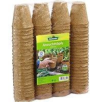 Dehner Anzuchttöpfe für Pflanzen, Ø je 6 cm, 96 Stück, Zellulose