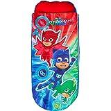PJ Masks 406PJM Lit d'Appoint Gonflable pour Enfants avec Couette Intégrée Inflatable, Polyester, Multicolore, 150x62x20 cm