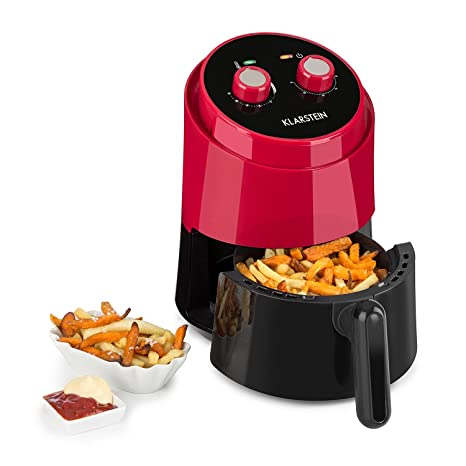Temperature Control and Timer Emperial 1.5L Air Fryer Low Fat Cooking with Rapid Air Circulation 900W Rose Gold