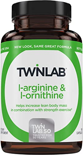 Twinlab L Arginine and L-Ornithine 100 Capsules Helps Increase Lean Body Mass