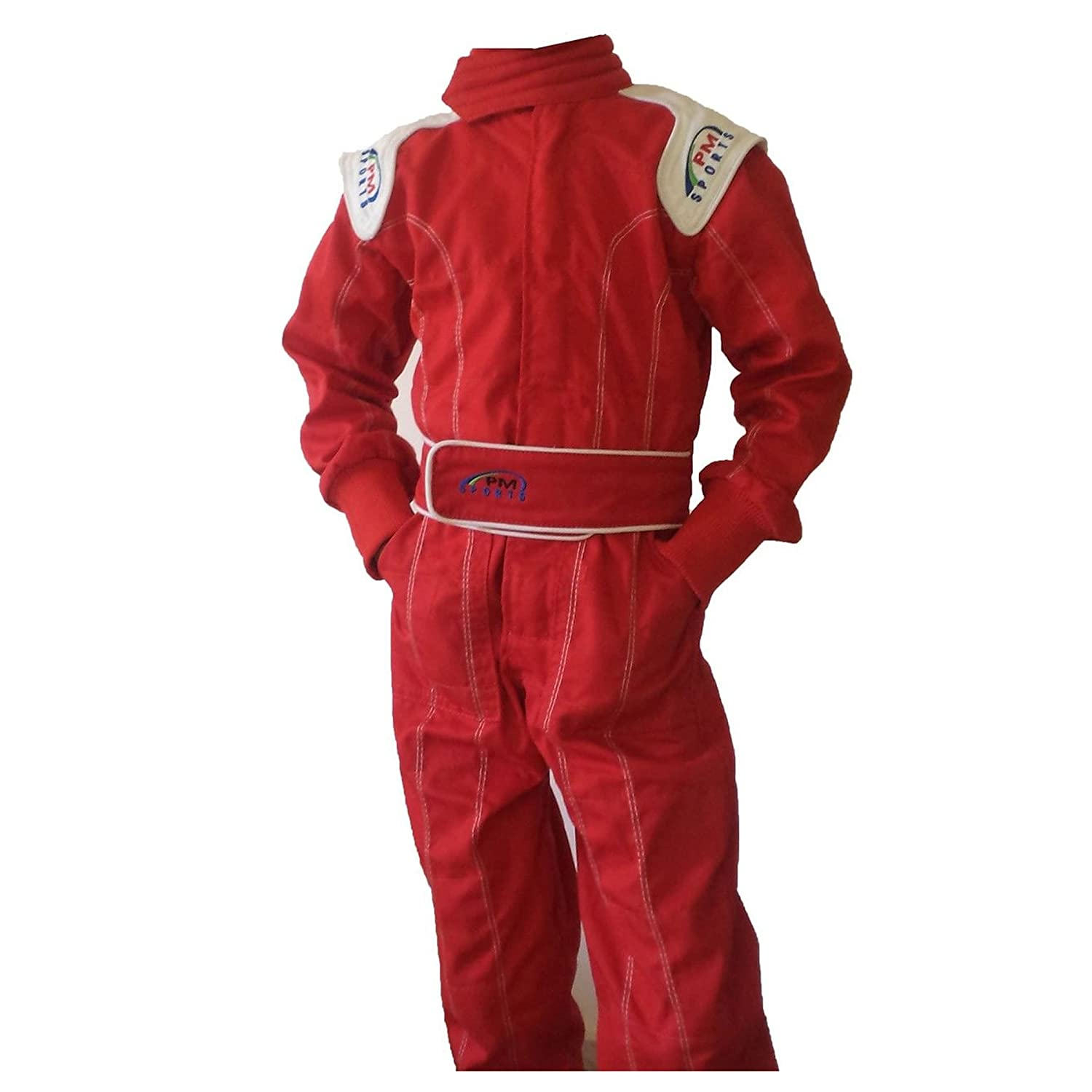 Kids/Children New Karting/Race Overall/Suits Polycoton Indoor & Outdoor PM Sports