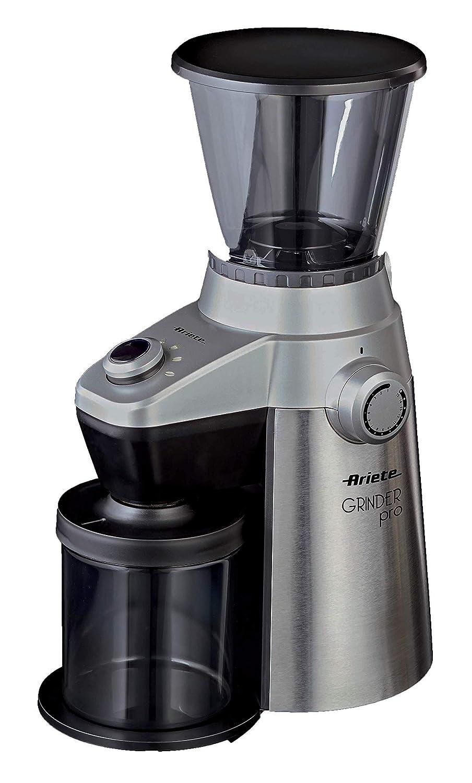 Ariete 3017 - Molinillo eléctrico de café profesional (15 niveles de molido, 150 W), color plata: Amazon.es: Hogar