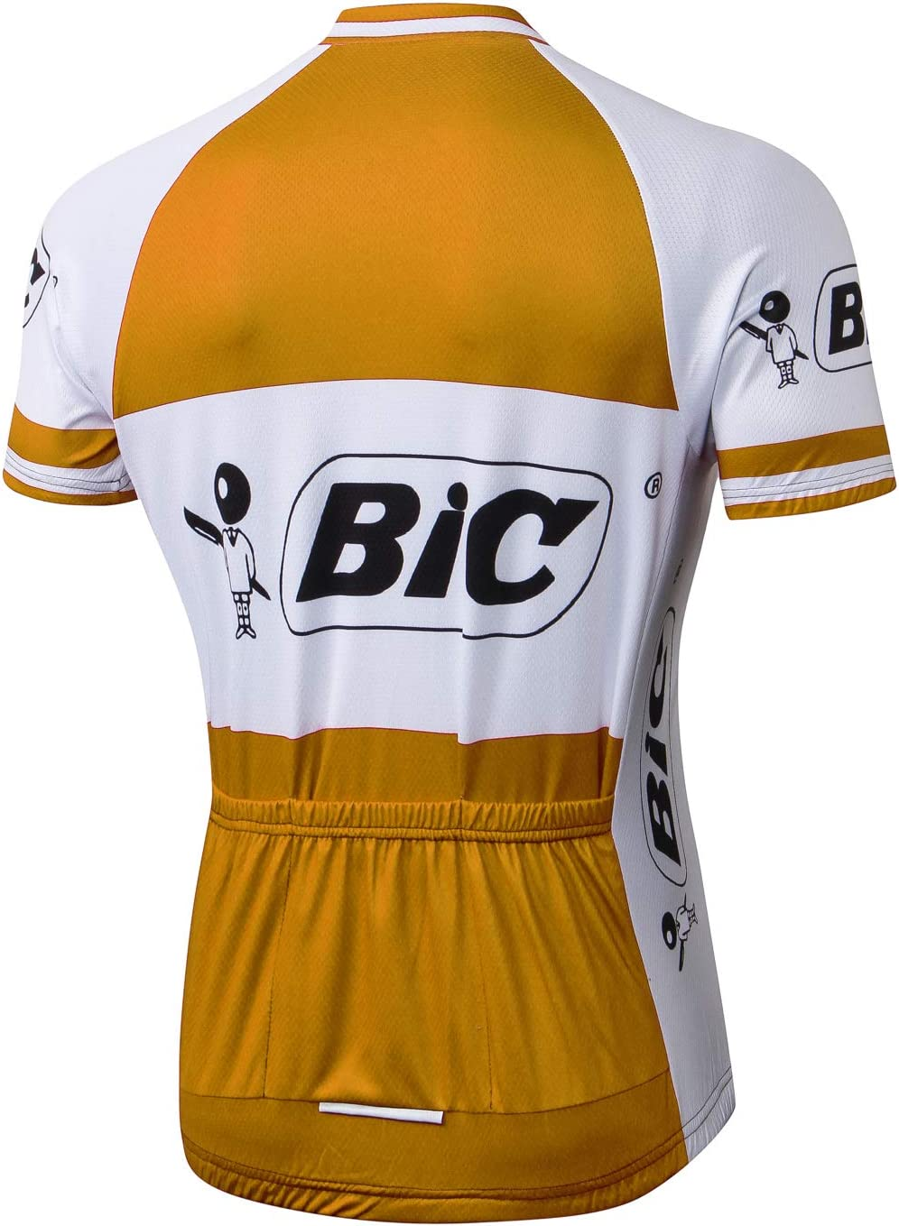 Alpediaa Maillot Ciclismo Hombrs,BIC Naranja Maillots de Bicicleta ...