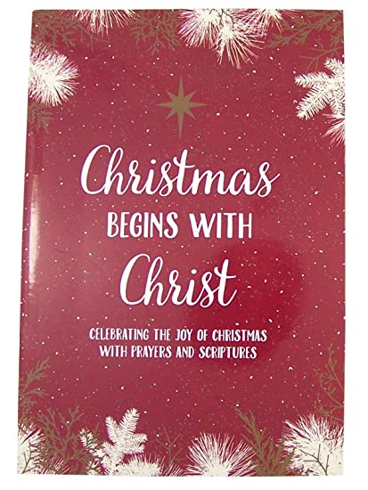 Christmas Scriptures.Amazon Com Religious Christmas Begins With Christ Holiday