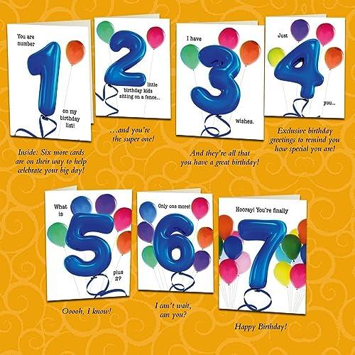 Amazon set of seven unique birthday cards that count up to a set of seven unique birthday cards that count up to a boys or m4hsunfo
