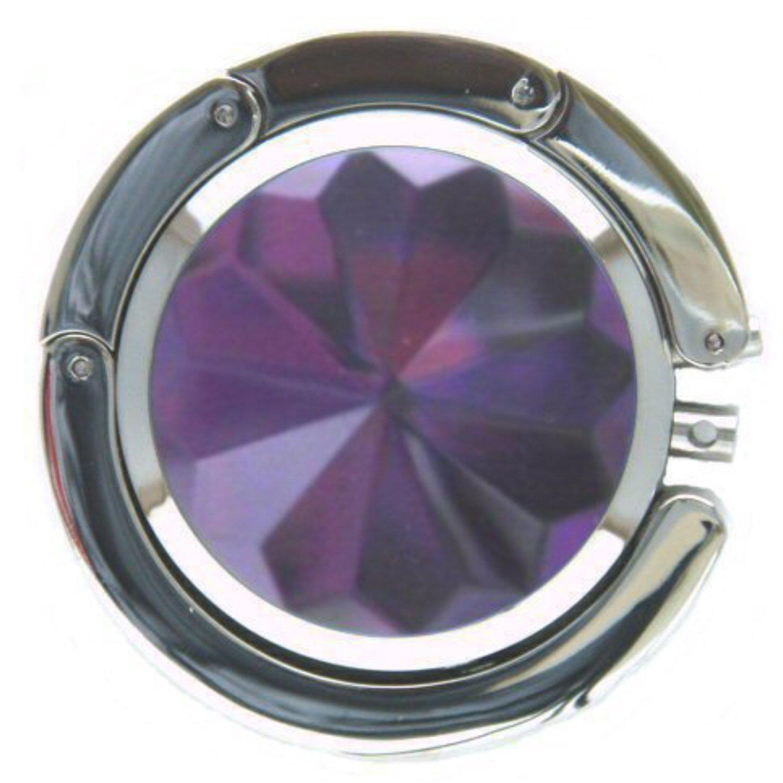 Purple Foldable Purse Hanger (Purple/Silver)