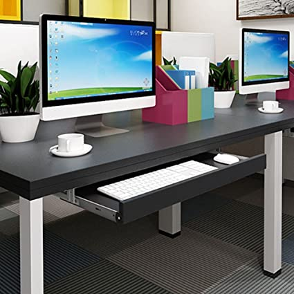 Under Desk Comfort Keyboard Drawer Platforms Furniture Office Keyboard Tray  Drawers Slide Fashion Computer Table