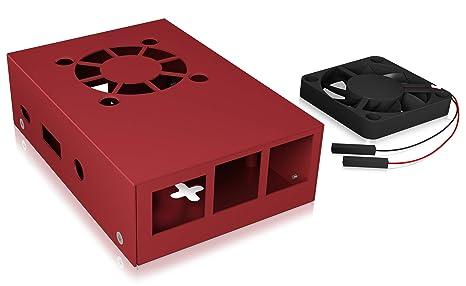 Icy Box Raspberry Pi 3 - Carcasa con Ventilador (Aluminio, 2 ...