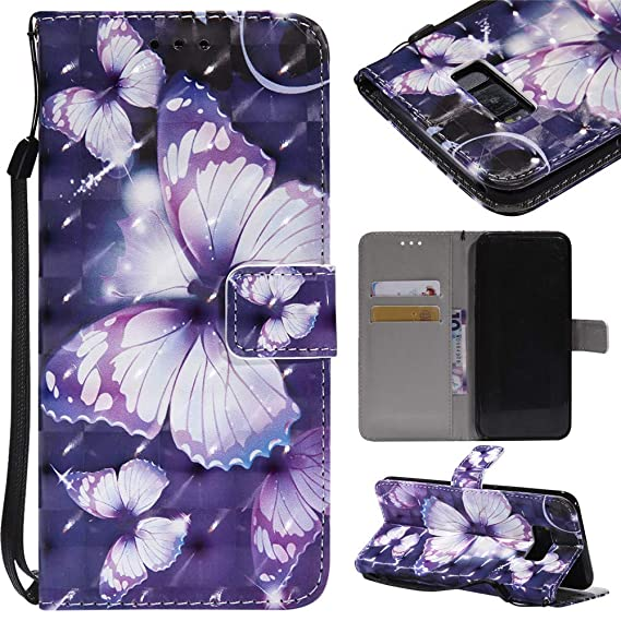 separation shoes 4d862 11544 Amazon.com: IVY Galaxy S8 Plus 3D Wallet Cases With [Card Holder ...