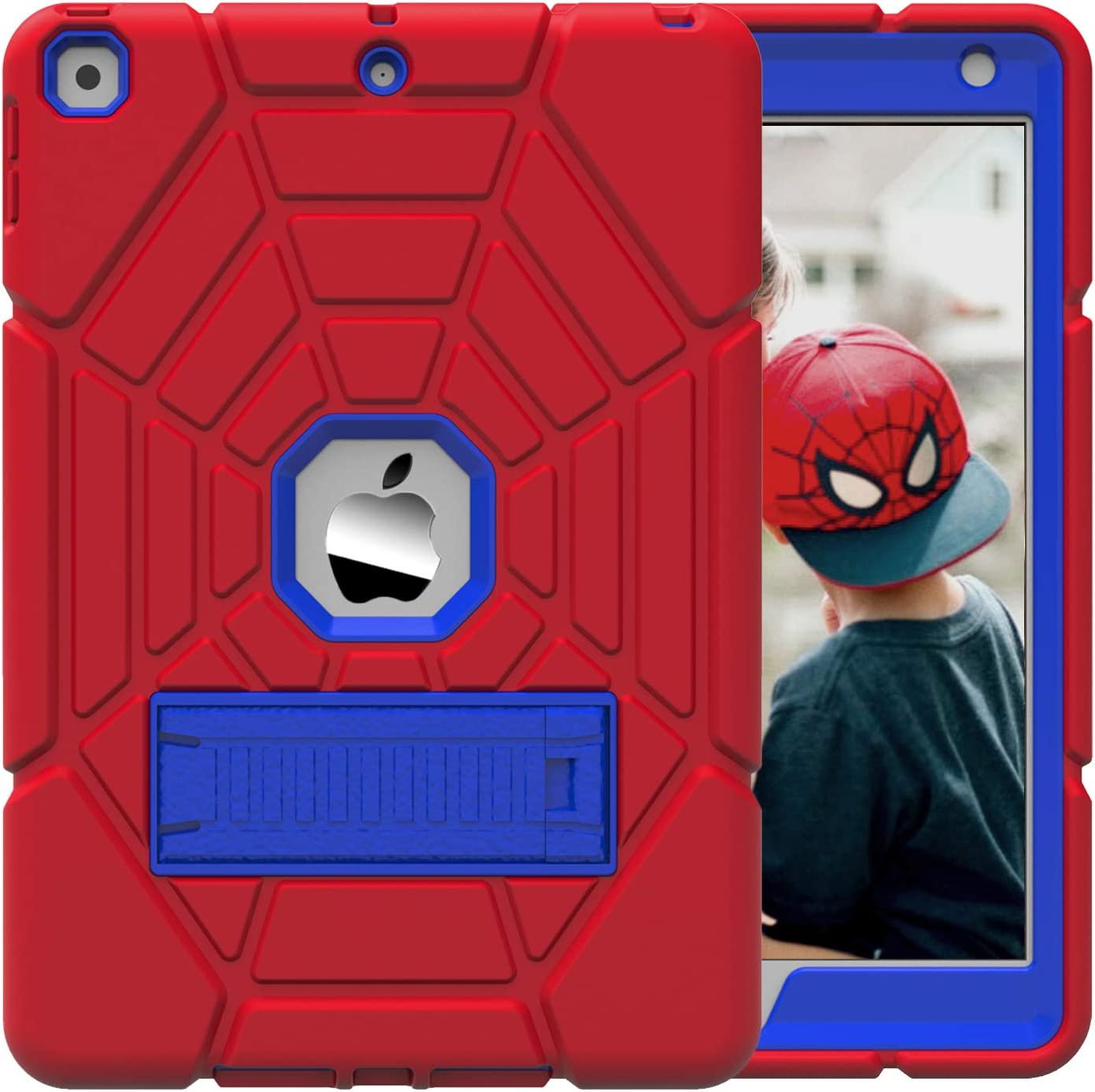 Grifobes Kids Case for New iPad 10.2 2020/2019 - iPad 8th/7th Generation Case for Kids,Heavy Duty Shockproof Rugged Case High Impact Full Body Protective Cover for iPad 8th/ 7th Gen 10.2