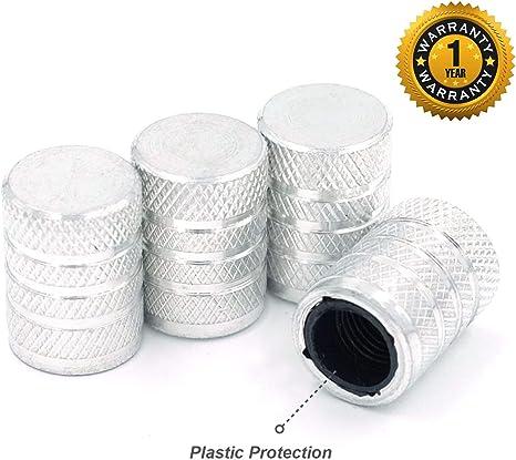 4 Pcs//Pack Auto Anodized Aluminum Tire//Wheel Air Pressure Valve Stem Caps