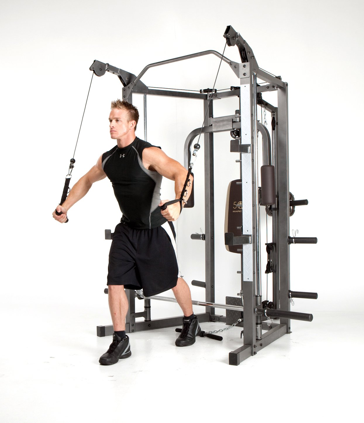 Marcy Smith Machine with Bench and Weight Bar – Home Gym Equipment SM-4008 by Marcy (Image #5)
