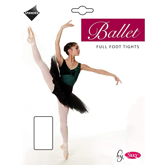 89a89a0d8c0 Girls 1 Pair Silky Ballet Foot Tights  Amazon.co.uk  Clothing