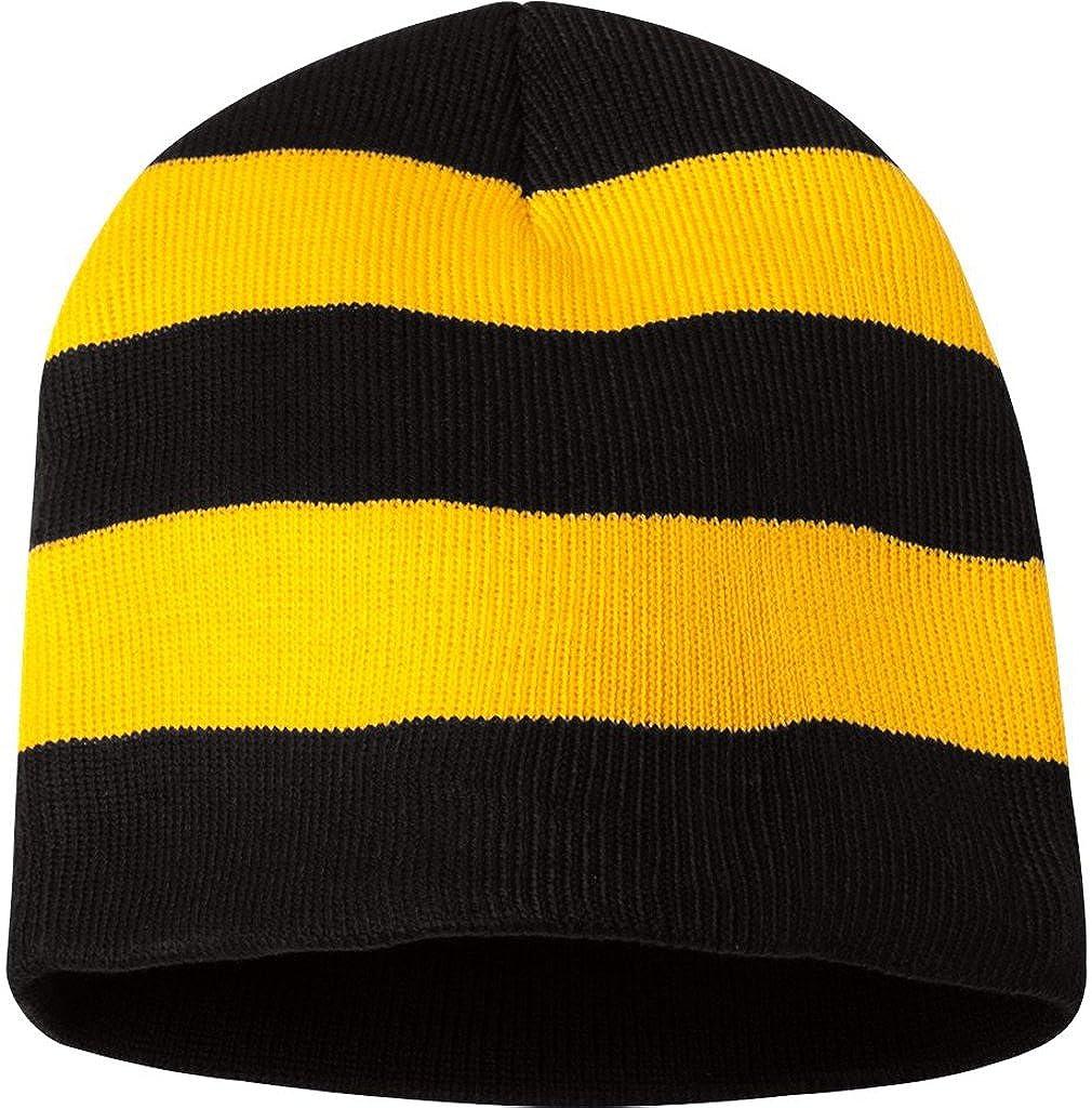 d4ec878c1 Sportsman SP01 - Rugby Striped Knit Beanie