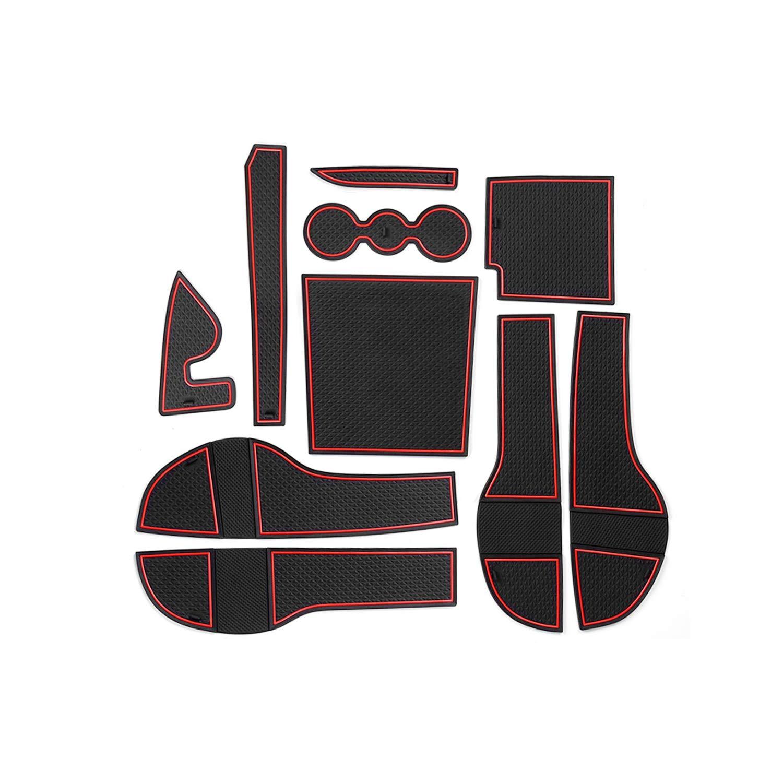 CDEFG f/ür Skoda Kodiaq RS Auto Innere T/ürschlitz rutschfest Anti-Staub Becherhalter Matte Arm Box Aufbewahrung Pads