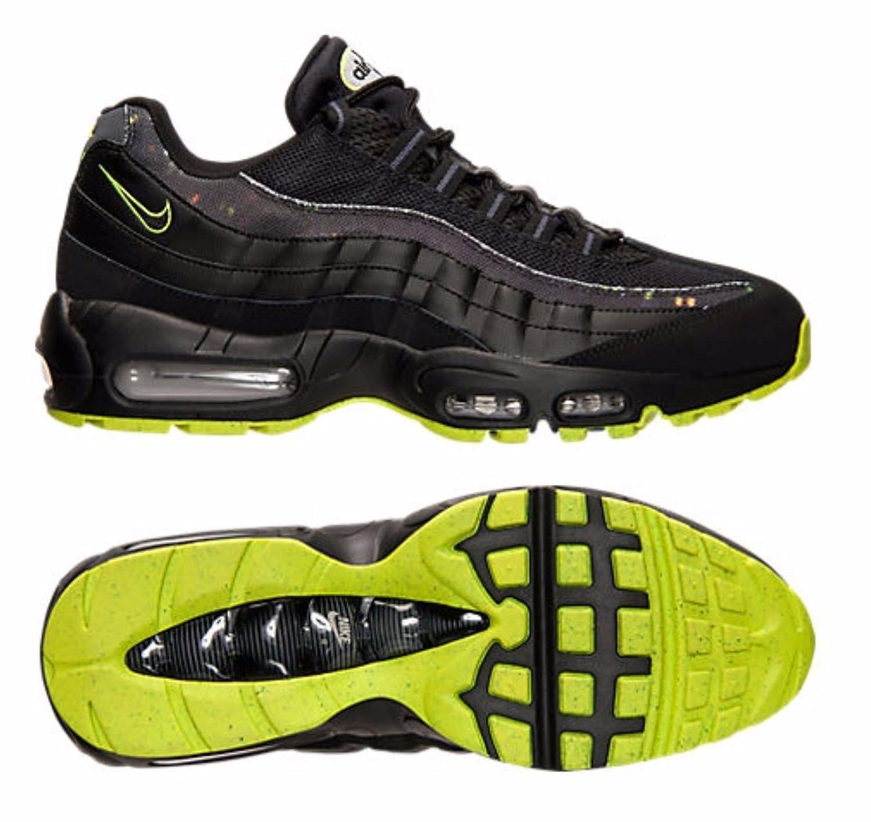 online retailer bc4a5 9400d Amazon.com | Nike Mens Air Max 95 Sneakers New, Black/Volt ...