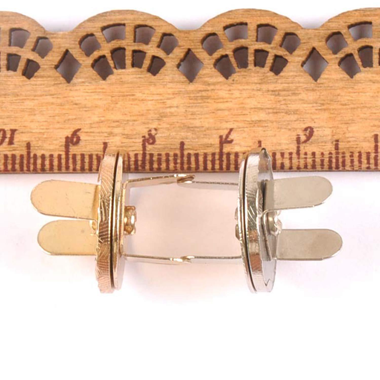 Kidly 10Set Cuivre Haute Fermeture Magn/étique Fermeture Fermoirs Boutons Sac /À Main Sac /À Main Portefeuille Craft Sacs Pi/èces Accessoires 10 Mm 14 Mm 18 M