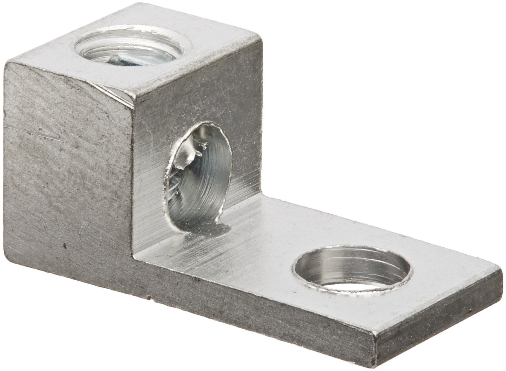 Dual Rated Mechanical Connector, Single Lug, 4-14 AWG Wire Range, 0.250'' Mounting Hole, 0.375'' Width, 0.500'' Height, 1.060'' Length (Pack of 100)