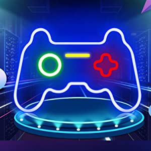 Gamepad Shaped Neon Signs Playstation Lights Game Controller LED Neon Sign Light Up for Bedroom Wall Decor 16
