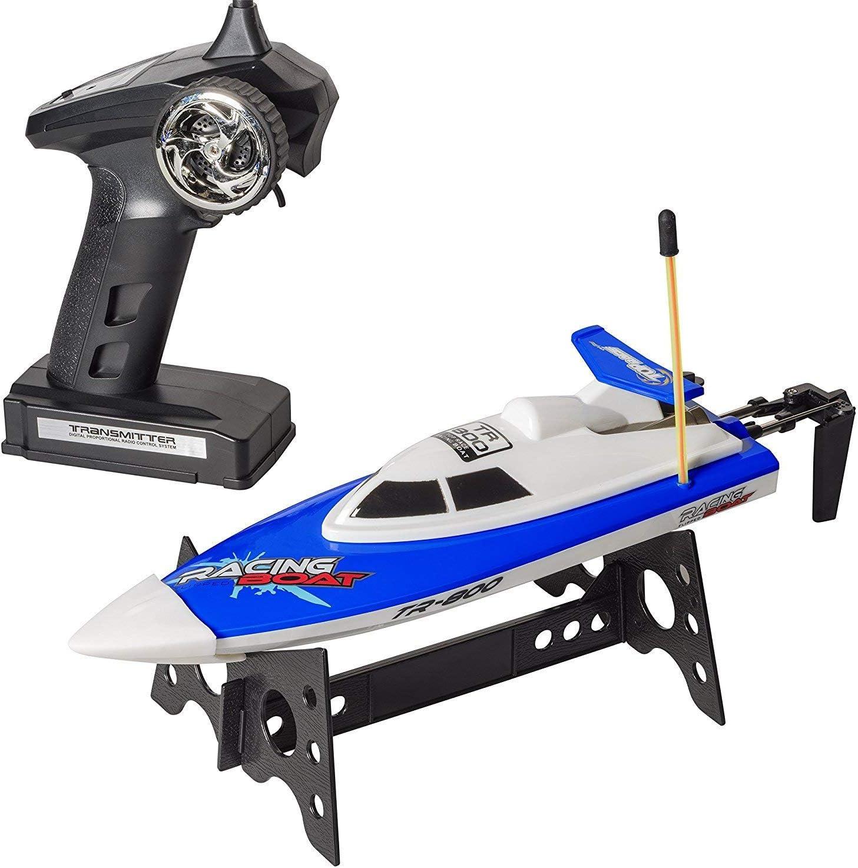 Top Race Control Remoto RC Barco Azul y Rojo: se Puede Jugar al Mismo Tiempo en una proximidad cercana (Azul 27mhz)