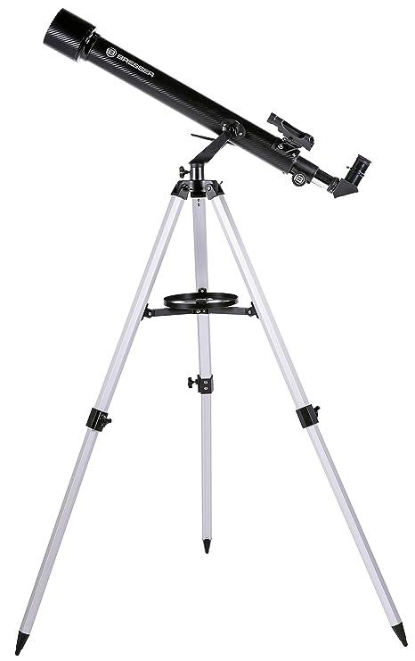 Bresser Arcturus 60/700 AZ - Lunette astronomique Carbon design avec Adaptateur pour Smartphone