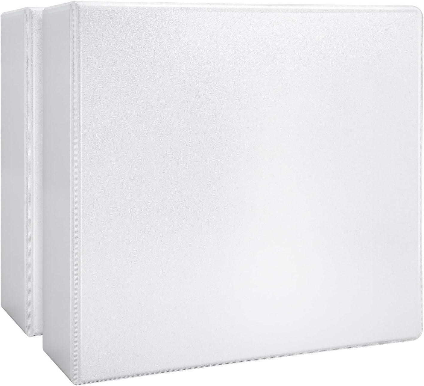 "AmazonBasics 4"" Heavy-Duty View 3 Ring Binder, White, 2/Pack"