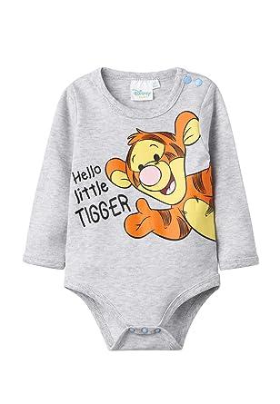 21af5840da304 Disney Winnie l'ourson Baby Boys' 2138 Bodysuit, Grey Gris, 2 Years ...