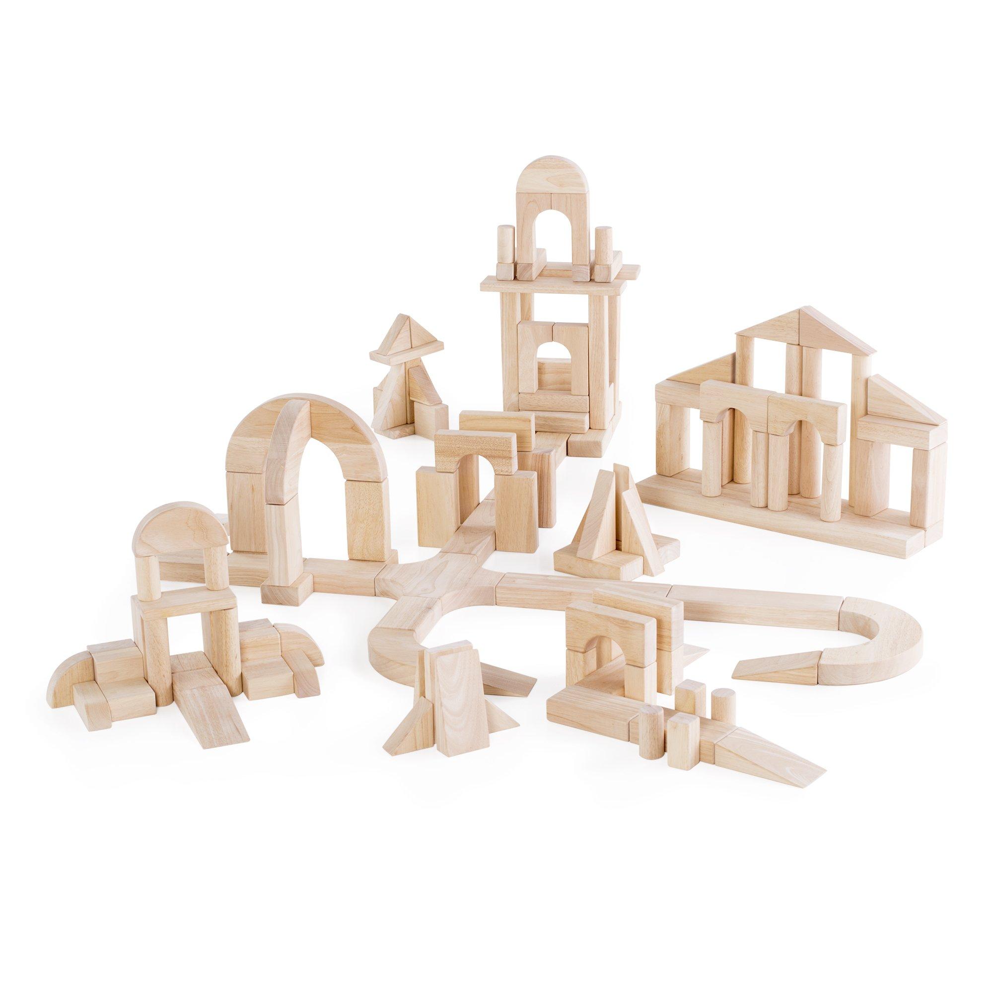 Guidecraft Unit Blocks Set D – 135 Piece Set - STEM Educational Toy for Kids