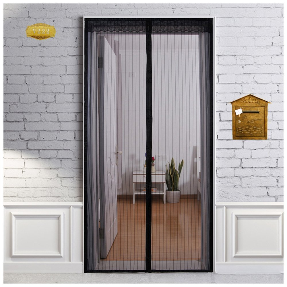 Magnetic Mesh Screen Door Keeps Bugs Out and Lets Fresh Air In. Ensure \u0026. & Magnetic Mesh Screen Door Keeps Bugs Out and Lets Fresh Air In ...