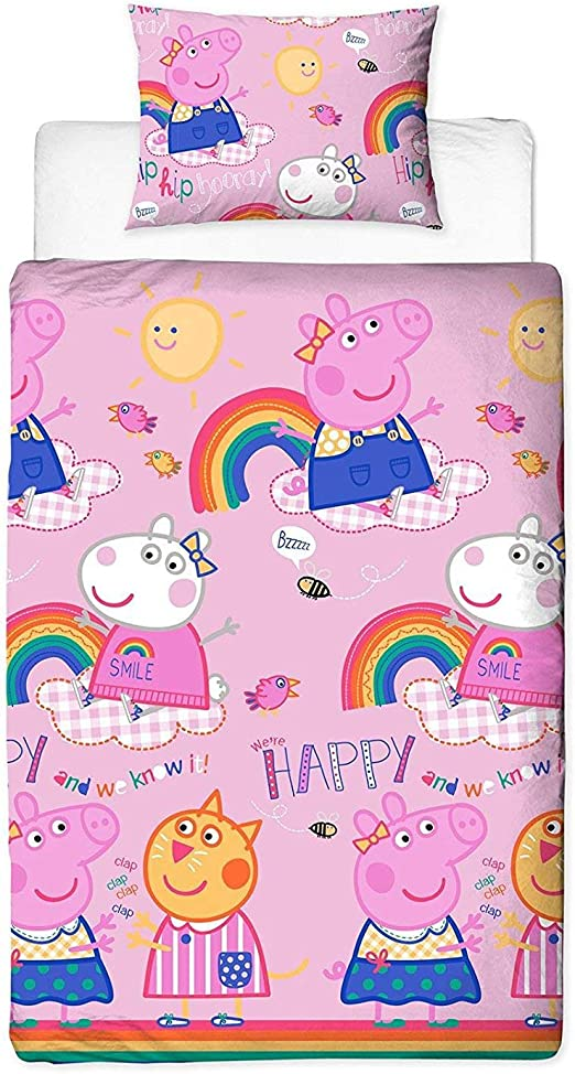 Peppa Pig Friends - Funda nórdica para Cama Individual, Color Rosa ...