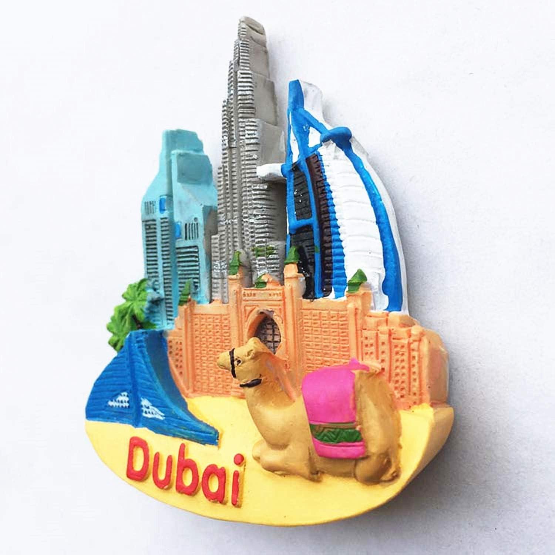 Maison et d/écoration de Cuisine magn/étique Autocollant Dubai Aimant de r/éfrig/érateur Souvenir de Voyage Cadeau Burj Khalifa Atlantis de Duba/ï Aimant de r/éfrig/érateur MUYU Magnet 3D Burj Al Arab