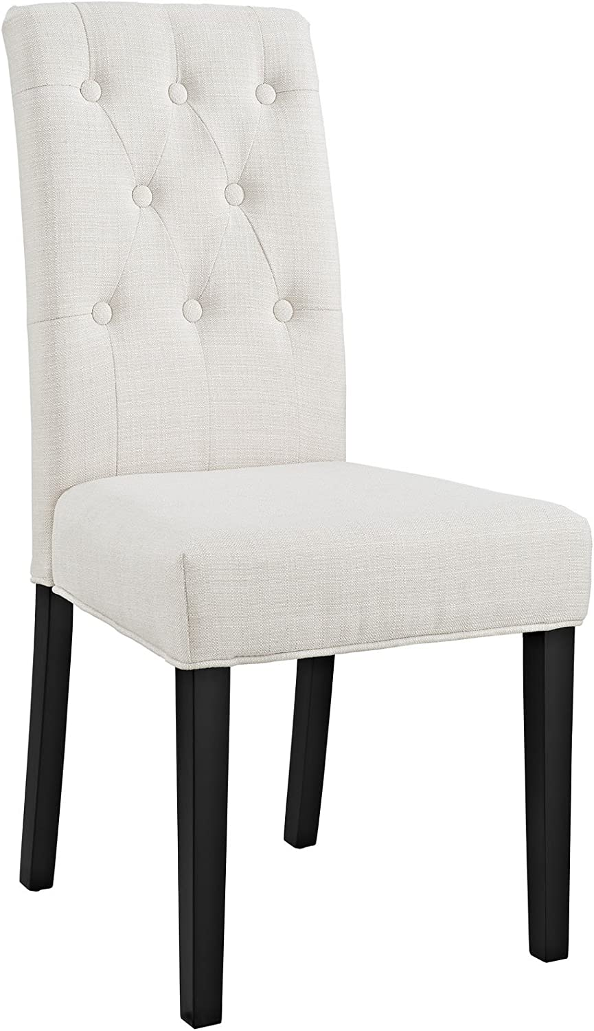 Modway Confer Modern Tufted Upholstered Fabric Parsons Kitchen and Dining Room Chair in Beige - Chairs