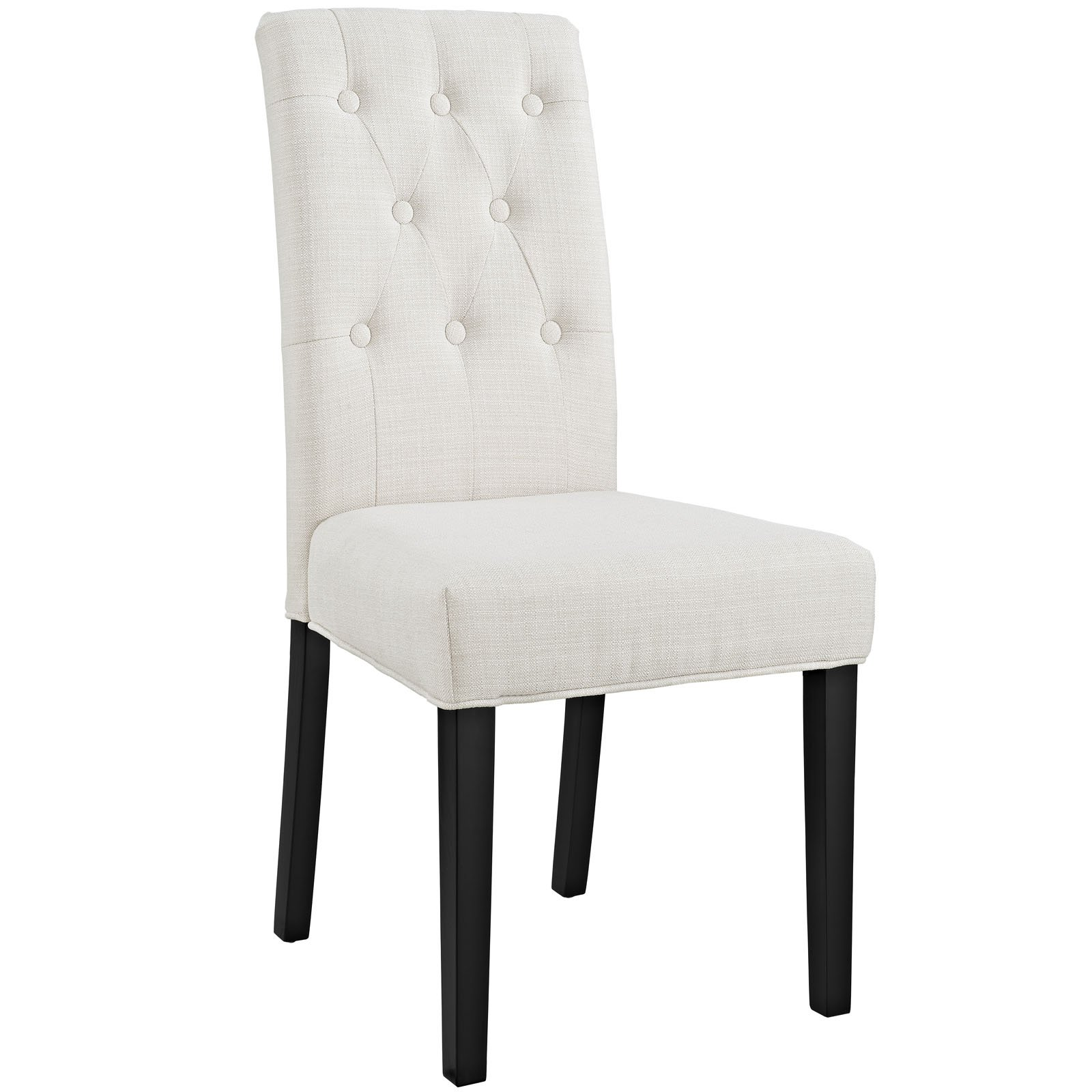Modway Confer Dining Fabric Side Chair, Beige by Modway