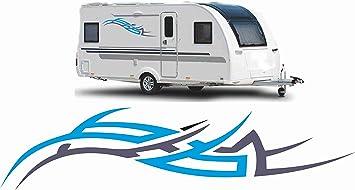 2x Wohnwagen Wohnmobil Aufkleber Caravan Sticker 120cm