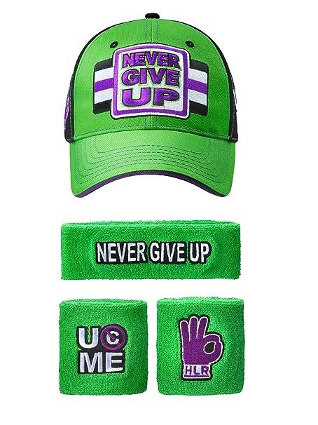 99ed2bc931039 FREEZE John Cena WWE NUNCA Give Up verde morado Gorra Béisbol diadema  Brazalete Set  Amazon.es  Ropa y accesorios