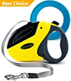 Retractable Dog Leash by D'Goods - Lifetime Replacement Guarantee - Long 16 ft Walking Leash for Small Medium Large Dogs up to 110lbs - Heavy Duty Nylon No Tangle – FREE FRISBEE