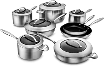 Scanpan CTX 14-Piece Stainless Steel Nonstick Cookware Set
