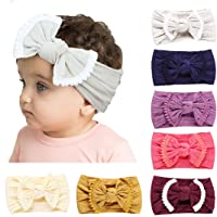 Joyfeel's Store Cintas para el pelo de Nylon para bebés Turbante Knotted Girls Hairband Super suave y elástica Wrap para recién nacidos Toddle para niños