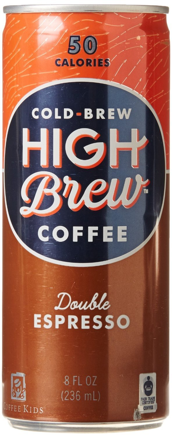 High Brew Coffee Cold-Brew Double Espresso, 8 oz