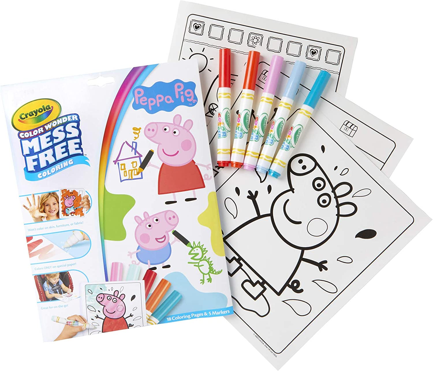Amazon.com: Crayola 75-7000 Color Wonder Mess Free Drawing, Peppa ...