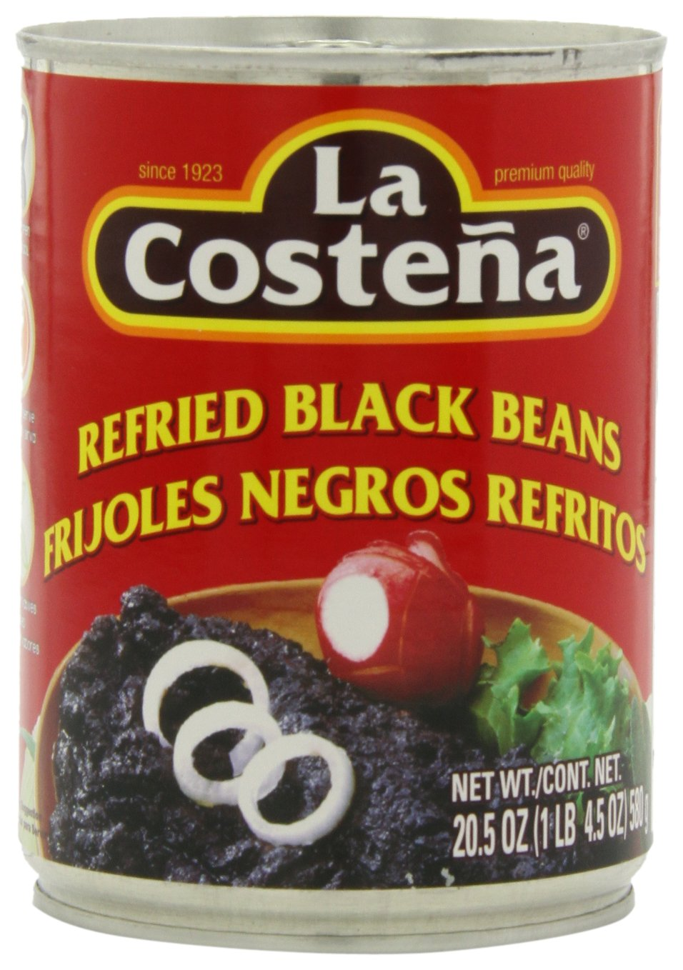 La Costena Beans, Black, 20.5 Ounce (Pack of 12)