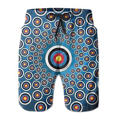 12756159475f1 Da Jian Hong Archery Target Colorado Mens Fashion Short Swim Trunks  Boardshorts Quick Dry Swimwear with