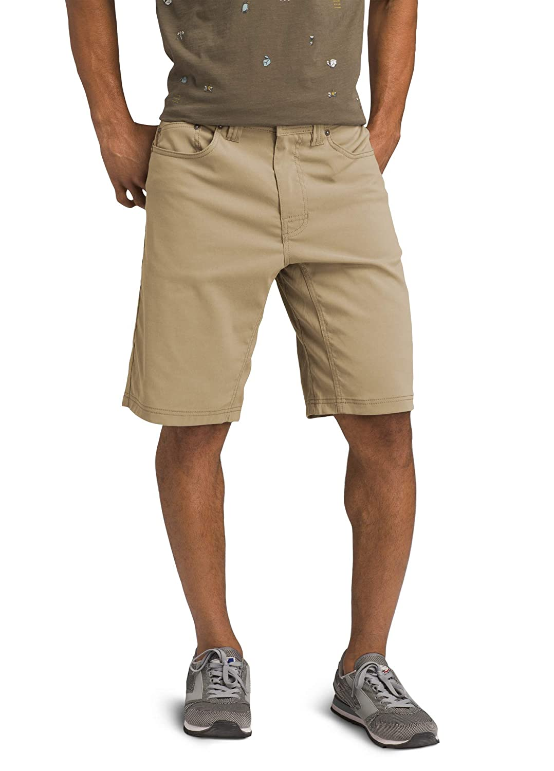Mens Brion Lightweight Water-Repellent Moisture-Wicking Shorts for Climbing and Everyday Wear PRANA