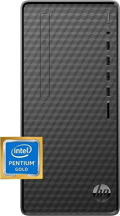 HP Desktop PC, Intel Pentium Gold G6400 Processor, 8 GB of RAM, 256 GB SSD Storage, Windows 10, High-Speed Performance Computer, 8 USB Ports, Business, Study, Videos, & Gaming (M01-F1014) | Amazon