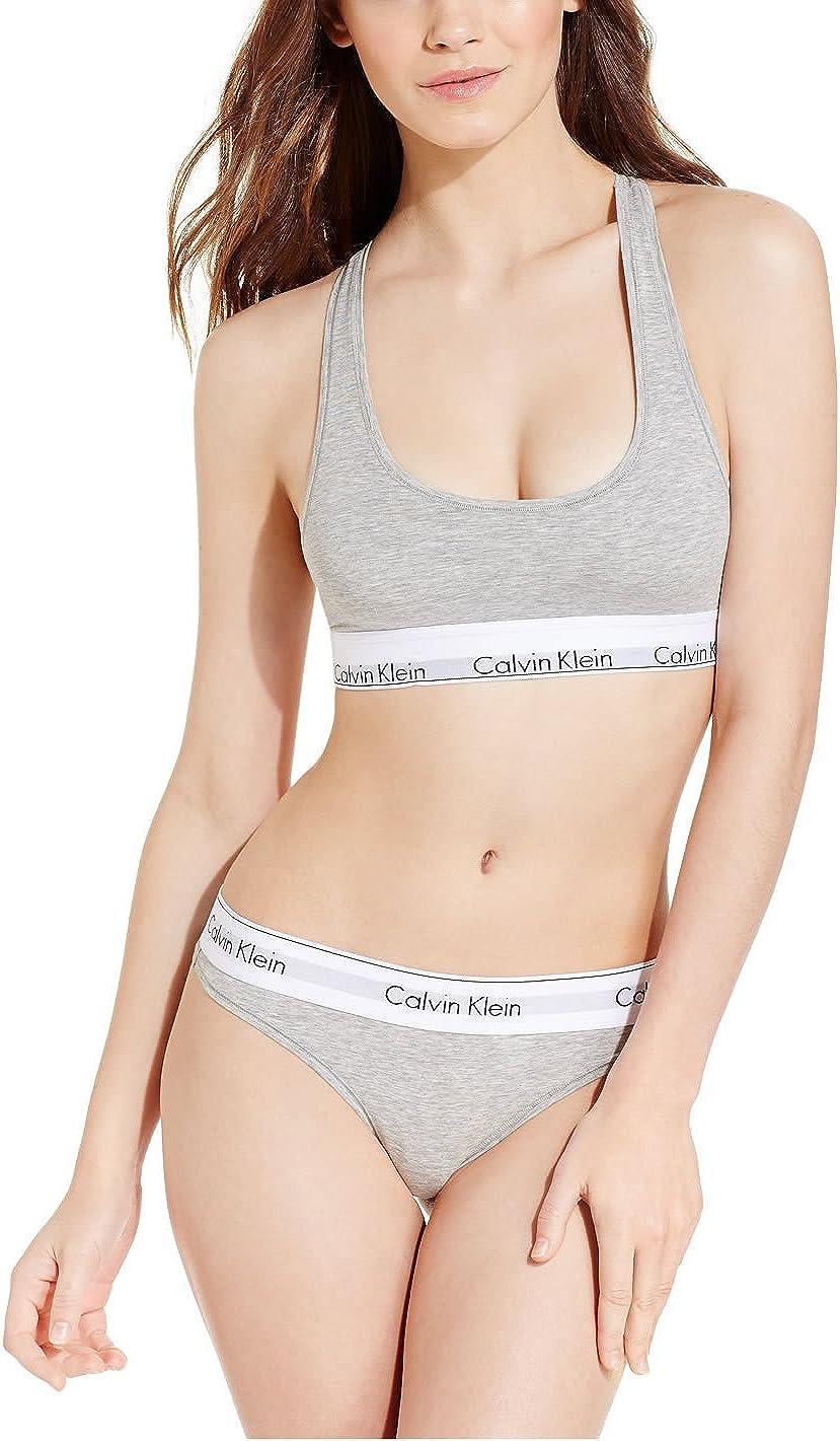 Calvin Klein .. - Conjunto de lencería - para Mujer Gris Gris M: Amazon.es: Ropa y accesorios