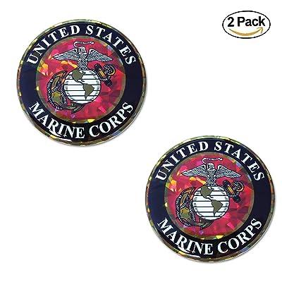 Elektroplate Marines Reflective Decal (Premium 2 Pack): Automotive