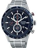 Pulsar - PF8439X1 - Montre Homme - Quartz Chronographe - Chronomètre/ Aiguilles lumineuses - Bracelet Acier Inoxydable Argent
