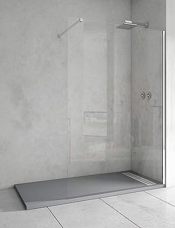 Mampara de ducha de 1 hoja fija - Cristal de Seguridad de 6 mm ...
