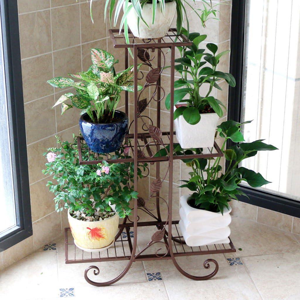 LRW Europäischen Stil Multifunktionale Eisen Kunst Blume Stehen Boden Balkon Indoor und Outdoor Wohnzimmer Dekorative Pflanze Rack